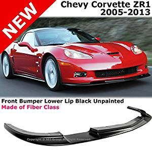 Chevy C6 Z06 Corvette 05-13 ZR1 Style Front Bumper Lower Lip Spoiler AERO Kit