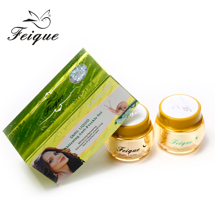 TOP! Feique escargot blanc Beauté crème de Blanchiment De La Peau avec la nature escargot essence