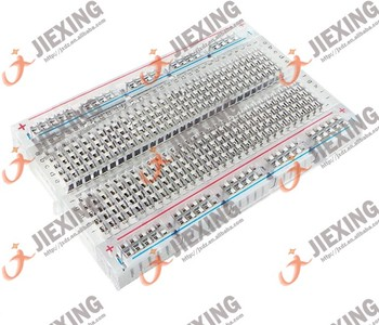 400 tie-points breadboard transparent test board