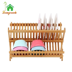 Kitchen Plate Holder 2 Tier Dish Rack With Tray