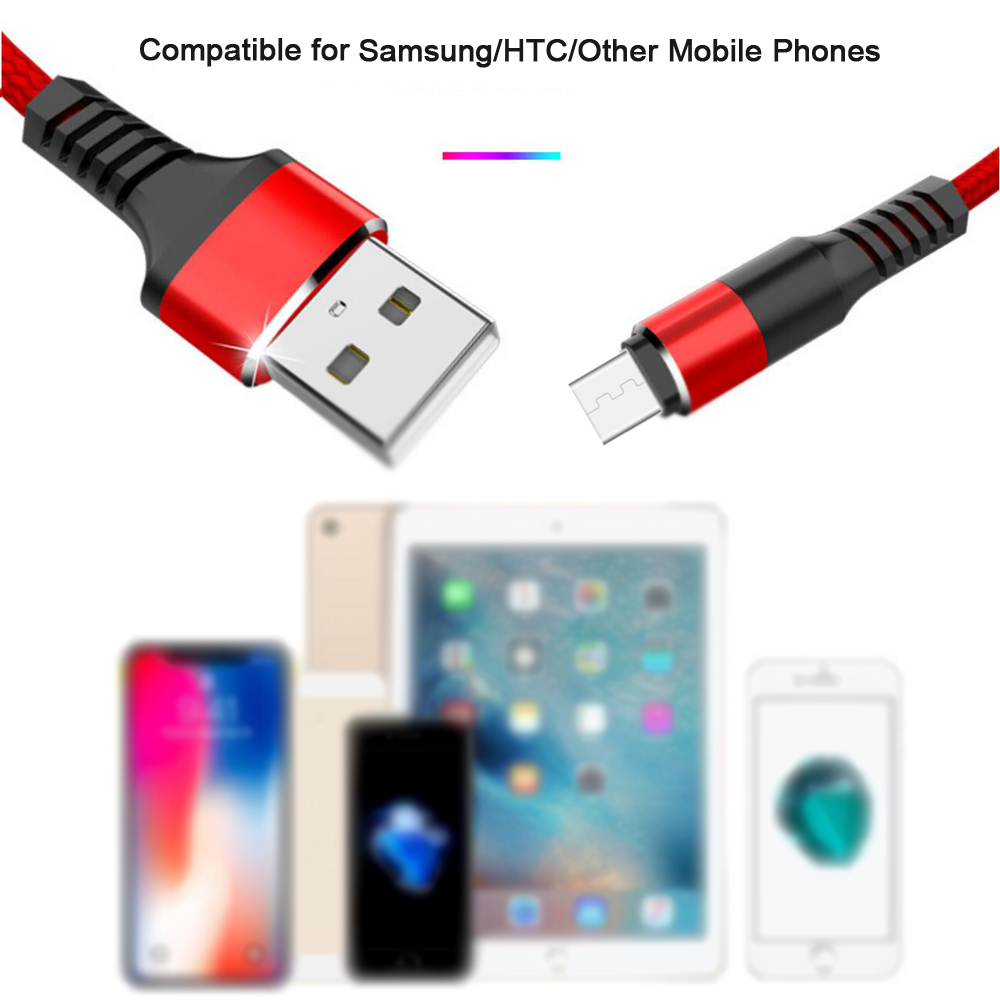2019 newest product braided usb cable micro 2.4A fast charger type c cable for samsung