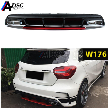 A45 Amg Style Rear Bumper Diffuser Exhausts For 2012 2018 Mercedes A Class W176 View W176 Amg Diffuser Adsg Product Details From Guangzhou