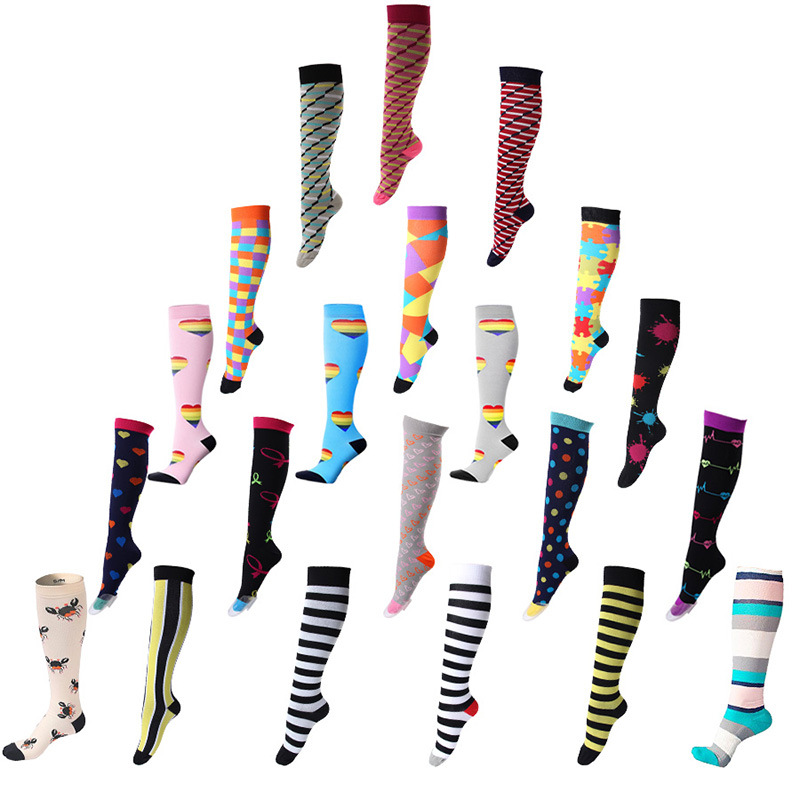 For Men Women Knee High athletic calf cute compression socks, Customized colors
