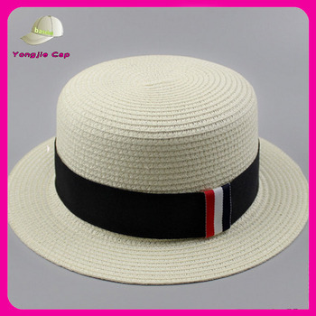 Traditional Soft Summer Men Straw Boater Hat - Buy Straw Hats 2fbc6a44c2a