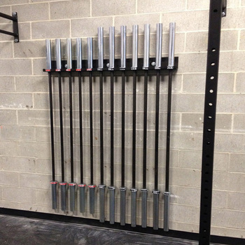Crossfit Gym Equipment 8 Tier Barbell Storage Wall Mounted Bar Rack