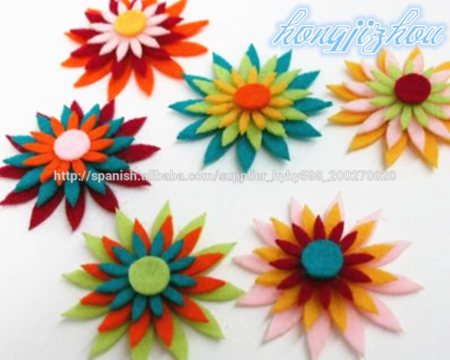 Variedad de flores de fieltro para la decoraci n del hogar for Decoracion del hogar por navidad