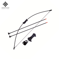 Dropship DS-A1016 High Quality Factory child archery bow set for outdoor sports black color hunting sale