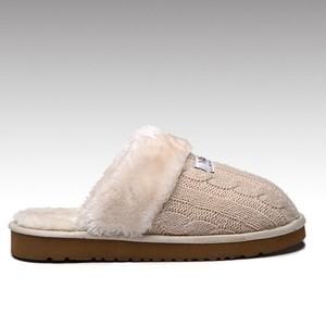 HC-930B warm plush EVA sole indoor outdoor knitted slippers