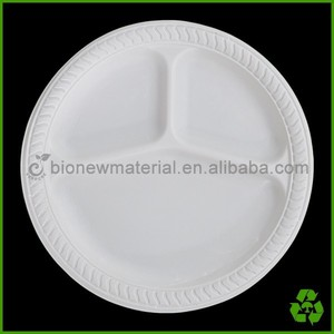 10 inch disposable 3 compartment dinner plates