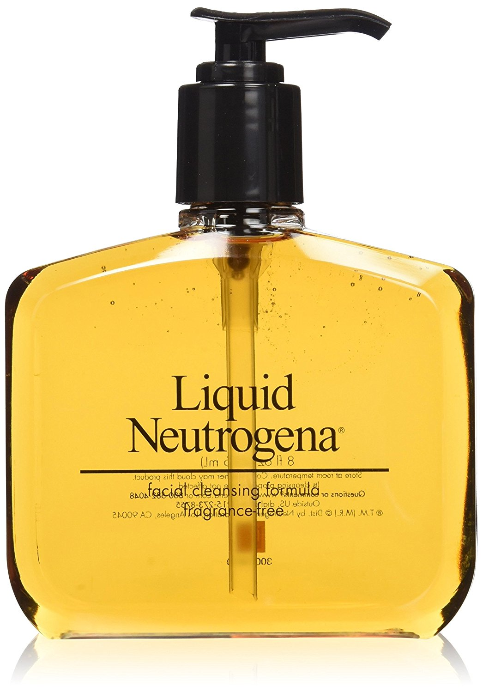 Neutrogena Fragrance Free Liquid Neutrogena, Facial Cleansing Formula, 8 Ounce (Pack of 3)
