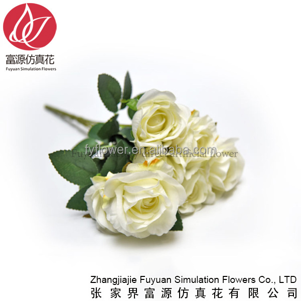 310-201-820-720 ivory rose bouquet artificial flower for wedding party home decorating