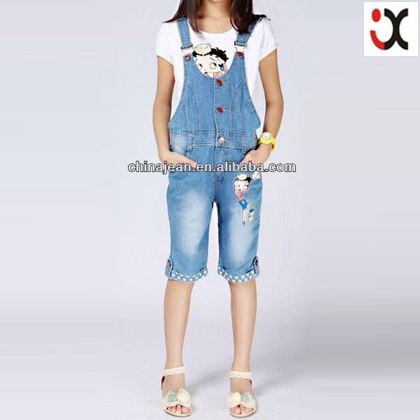 ed7a88c4c43 2017 hot sale jeans for girl kids jeans short overall jeans girl kid high  quality kid denim (JXK31830)