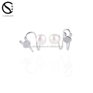 Earring New Fashion Rabbit And Pearl Ear Cuff Clip Earrings For Women