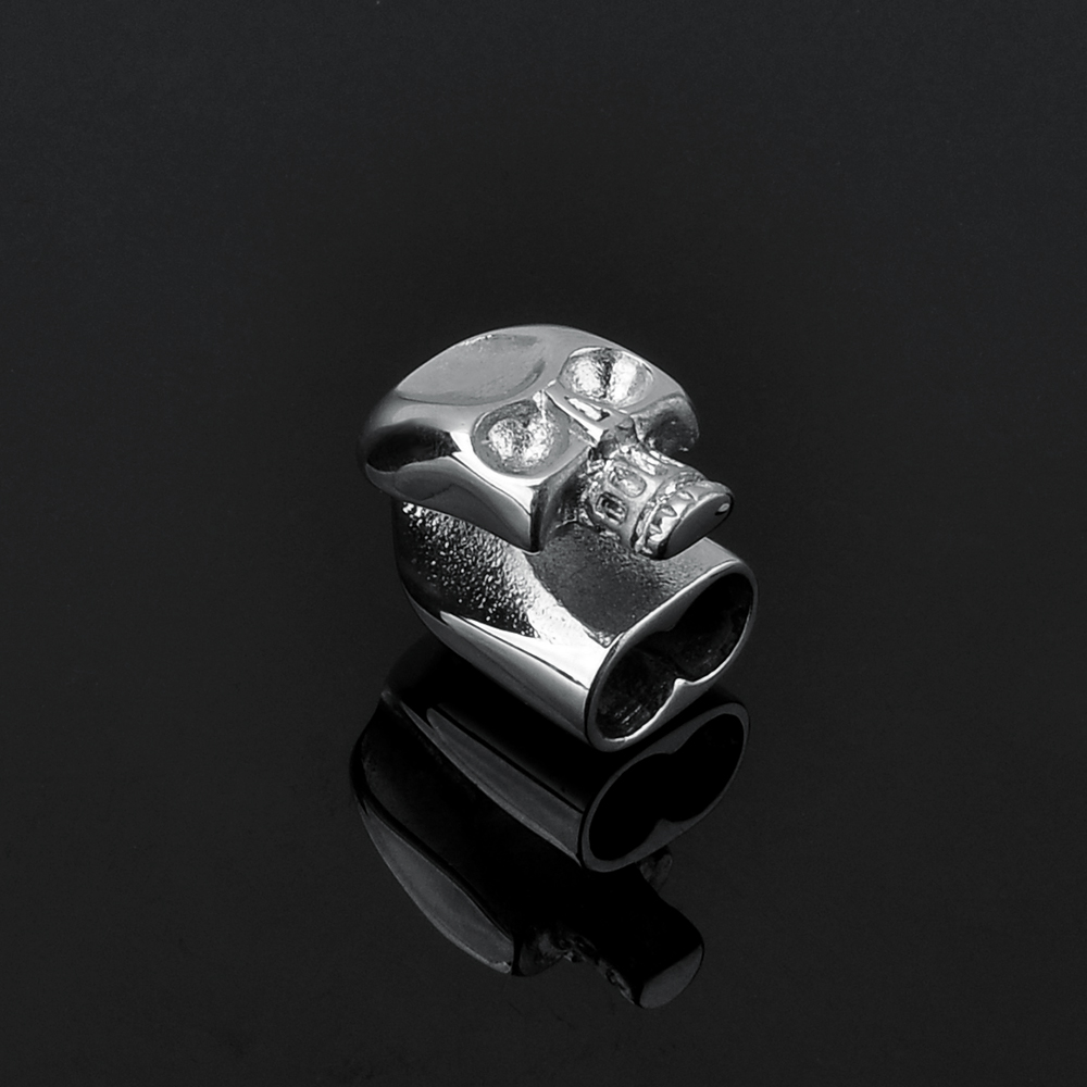 Wholesale Accessories Jewelry Rectangle Stainless Steel Skull Clasp
