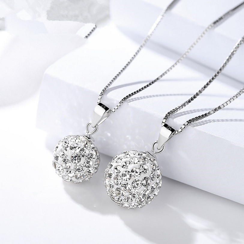 Cheapest wholesale solid 925 silver shamballa beads crystal <strong>pendant</strong> for women