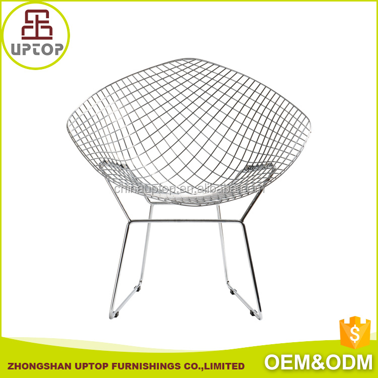 Hotel furniture living room iron wire harry bertoia diamond chair