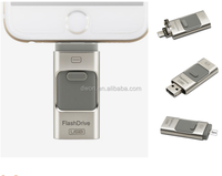 otg usb 3.0 flash drive gloden flash drive for iphone with free sample