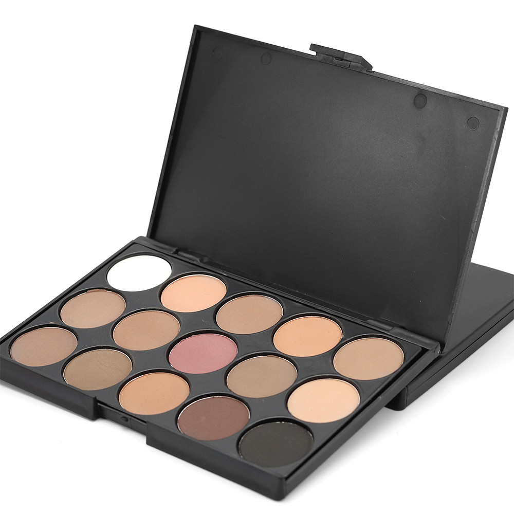 Popfeel 15 Colors Eyeshadow Makeup Warm Nude Shimmer Eyeshadow Palette <strong>Cosmetic</strong>