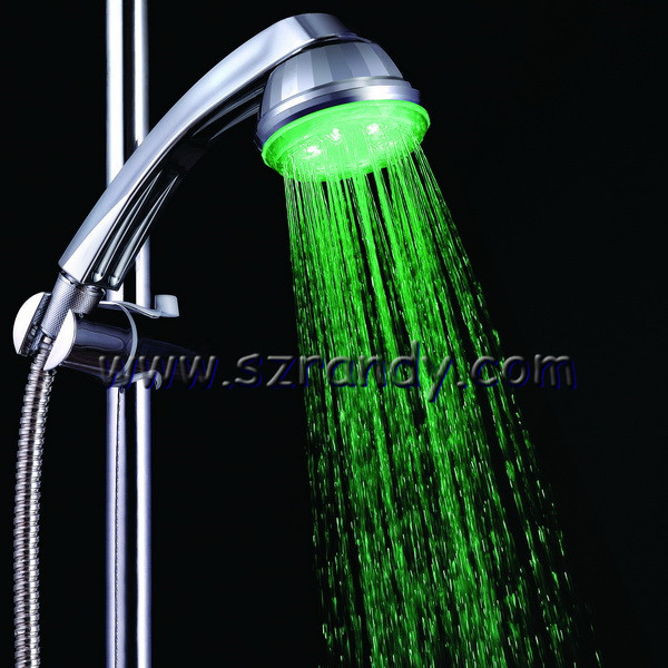 Wholesale Single Green Color Water glow LED light shower for bath ...