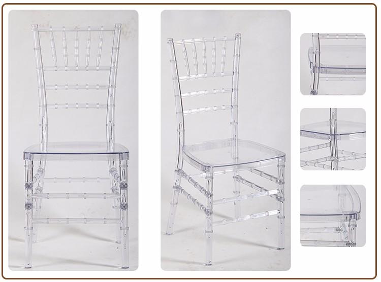 Hot Sale Cheap White Plastic Resin Chiavari Party Chairs