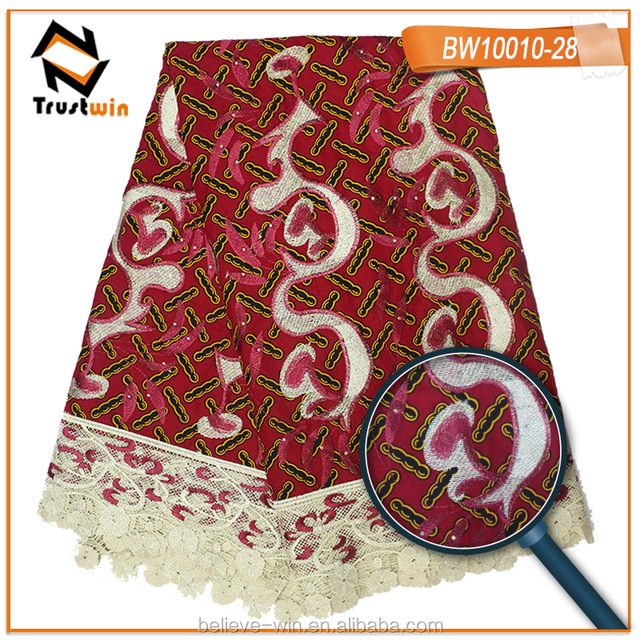 Fashion african material textile guipure lace wax of BW10010