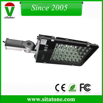 free shipping 50mm mounting brasket adjustable 48w led street light 130lm/w 6000k