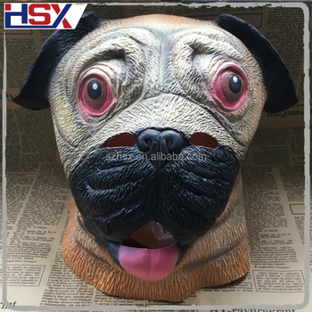 Hot Deluxe Lover Pooch Carnival Costume Adult Gag Gift Novelty Latex Pug Dog Mask & Hot Deluxe Lover Pooch Carnival Costume Adult Gag Gift Novelty Latex ...