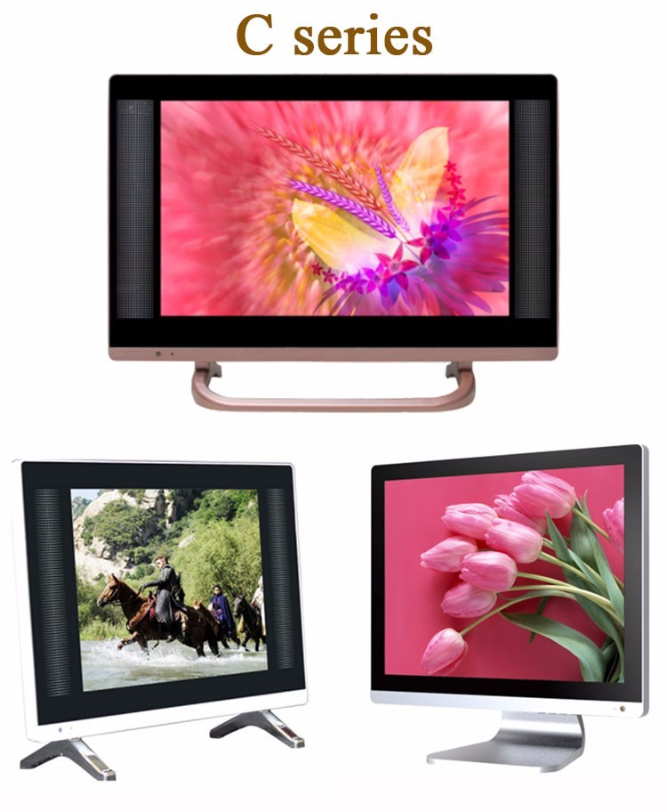 Portable Led ultra hd tv two speakers television 15 inch lcd home tv china TV