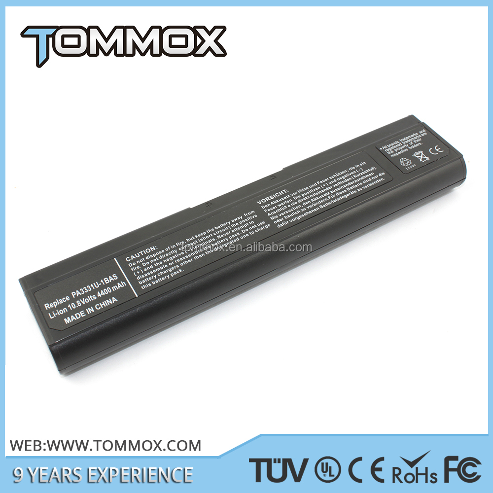 notebook battery for TOSHIBA PA 3331,Satellite M30 and M35 Series CE-/FCC-/RoHS-Certified