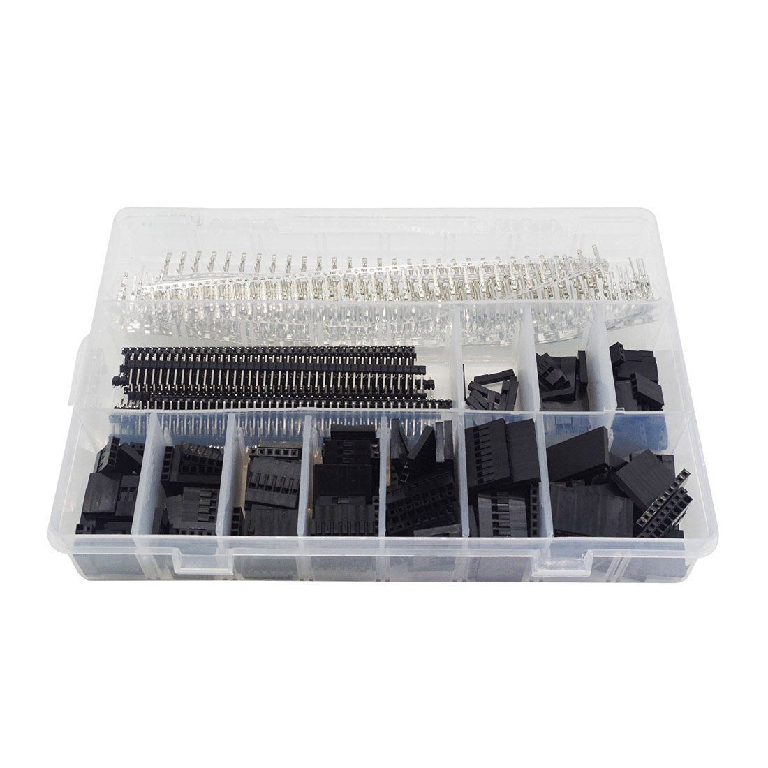 Haobase 520 Pcs 40 Pin 2.54mm Pitch Single Row Pin Headers,Dupont Connector H...
