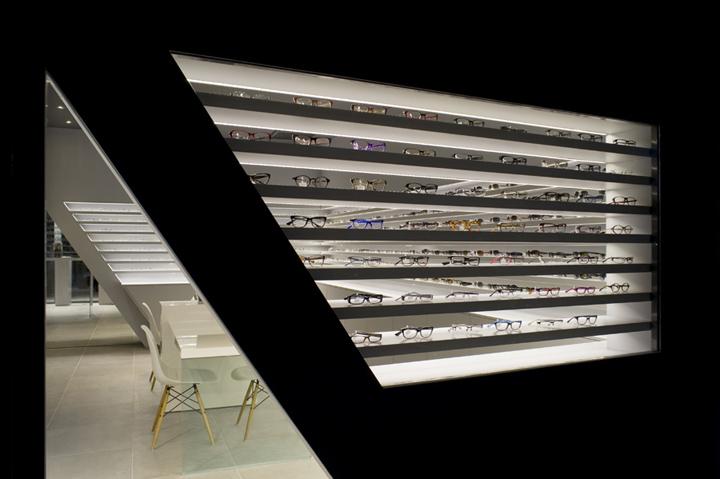 Retail eyewear/sunglasses shop optical store unique interior decoration designs