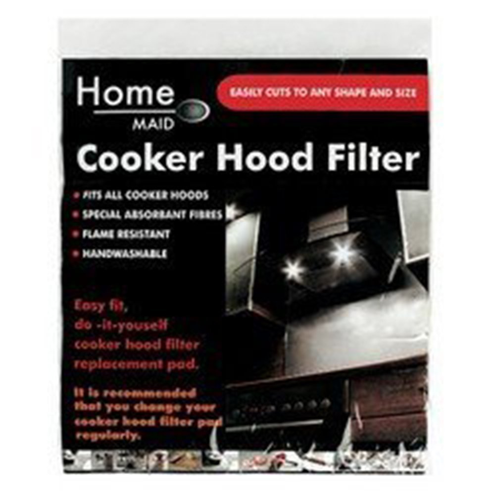 Home Maid Cooker Hood Filter, Cut To Size, Fits Most Types, Special Absortant Fibres