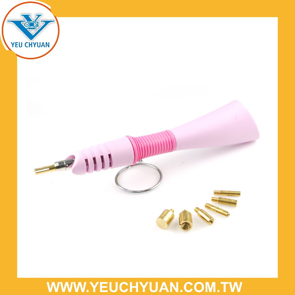 Patent- designed rhinestone applicator wand for hot fix gems