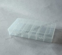 8 compartment transparent plastic container storage box for screw