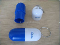 Promotional Keychain Medicine Capsule Storage Box