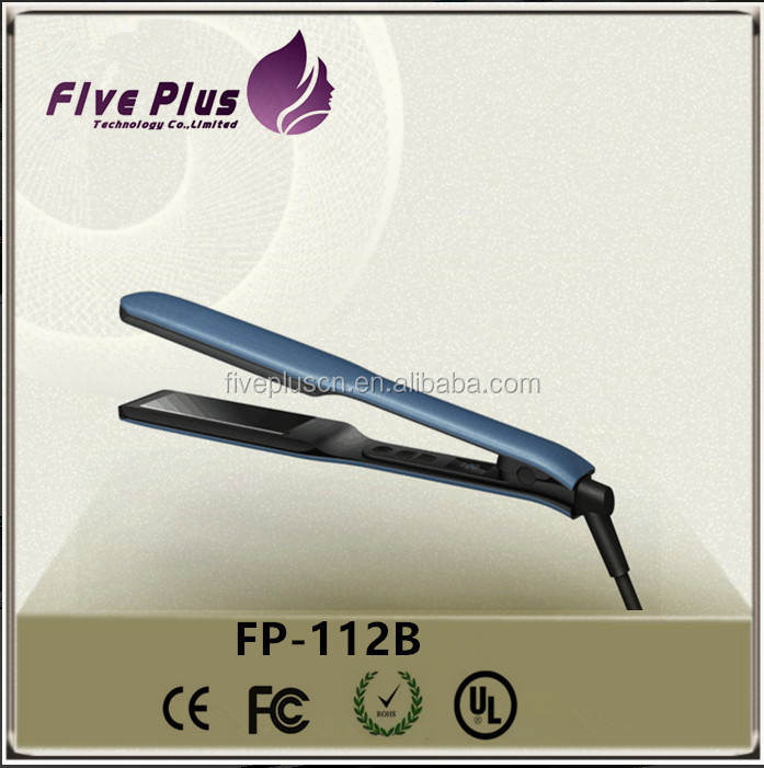 Barber shop equipment hair straightener ceramic digital hair straightener flat iron