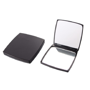 Pocket rectangle double side portable foldable compact cosmetic mirror plastic promotion gift