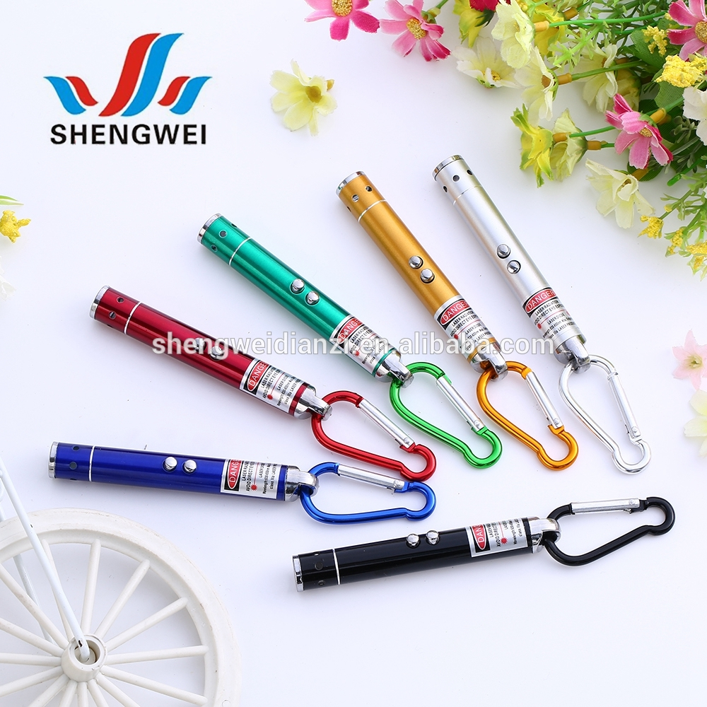 Factory price promotion keyring cat toy laser pointer pen with high quality