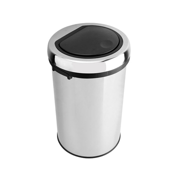 Extra Large Stainless Steel Outdoor Metal Trash Can Bin