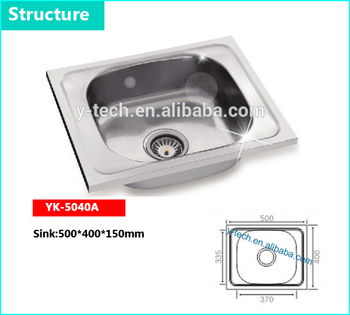 Indonesia Modern Kitchen Design Stainless Steel Kitchen Sink Small ...