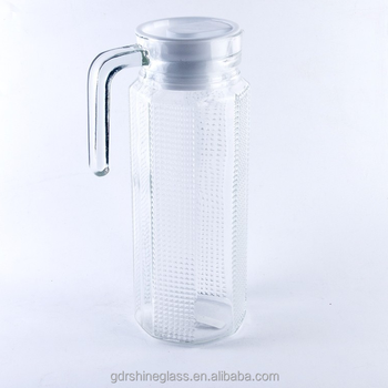 Cheap Designs Glass Water Pitchersjugs With Plastic Lidjuice Jug
