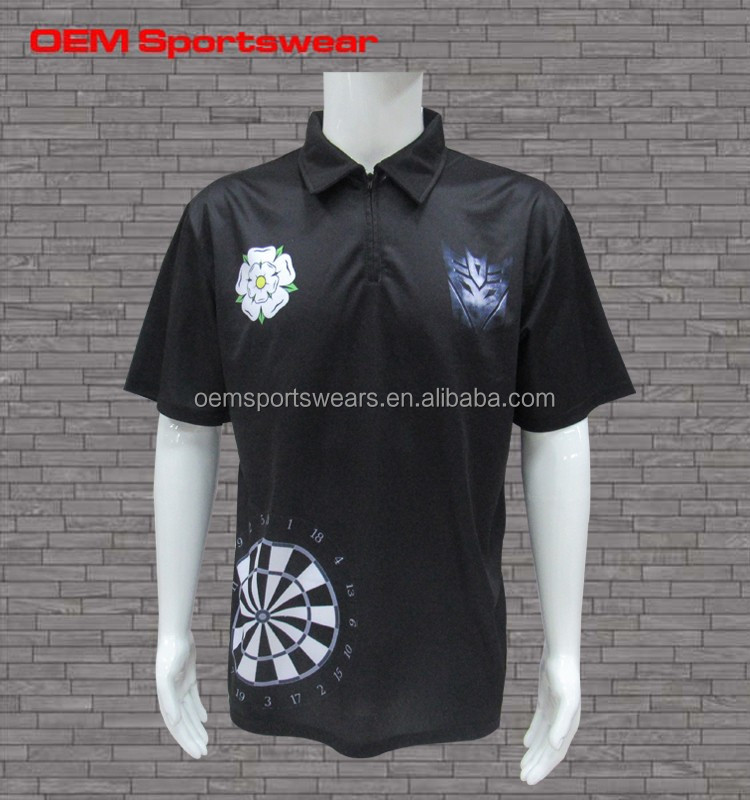 FREE SAMPLES men's dart game polo shirt wholesale