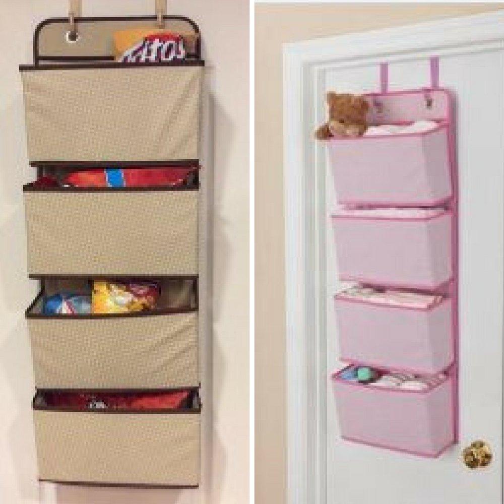 Get Quotations · Hanging Storage Space, Hanging Wall Door Organizer, 4  Pocket Hanging Organizer, Over