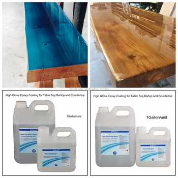 Superieur Crystal Clear Bar Table Top Epoxy Resin Coating For Wood Tabletop   1  Gallon Kit