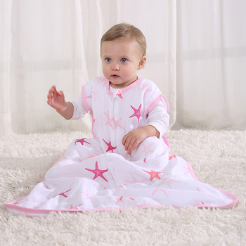 100% cotton baby muslin sleeping bag baby sleeping wrap breathable baby sleeping sack