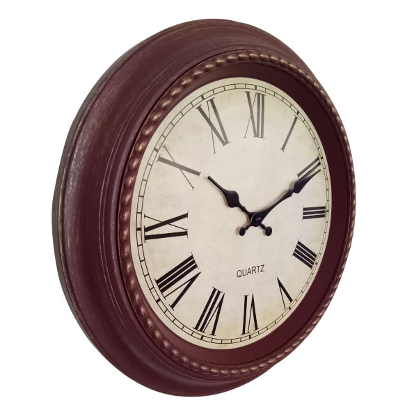 Vintage Retro 18-inch Dia Large Plastic Indoor Wall Clock for decor