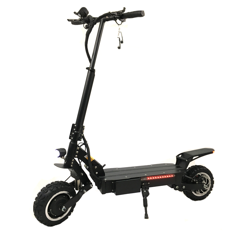 2018 newest removable dual motor 30Ah long distance powerful elektro scooter electric 5600w off road scooter for adults, Black