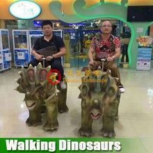Carnival product mechanical walking dinosaur for kids playing