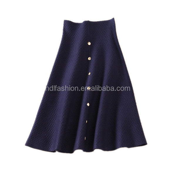 china supplier factory price polyester cotton fabric latest midi skirt