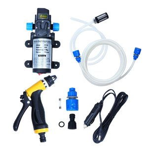 DC12V 80W Professional manufacturers Car Washer Kit High Pressure Water Pump Wash Set with Sprayer Gun